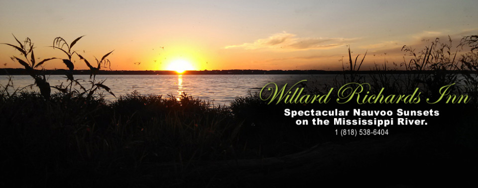 Spectacular Nauvoo Sunsets - Willard Richards Inn